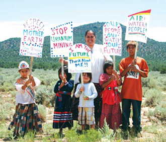 Kids Protest Red Butte July 2009