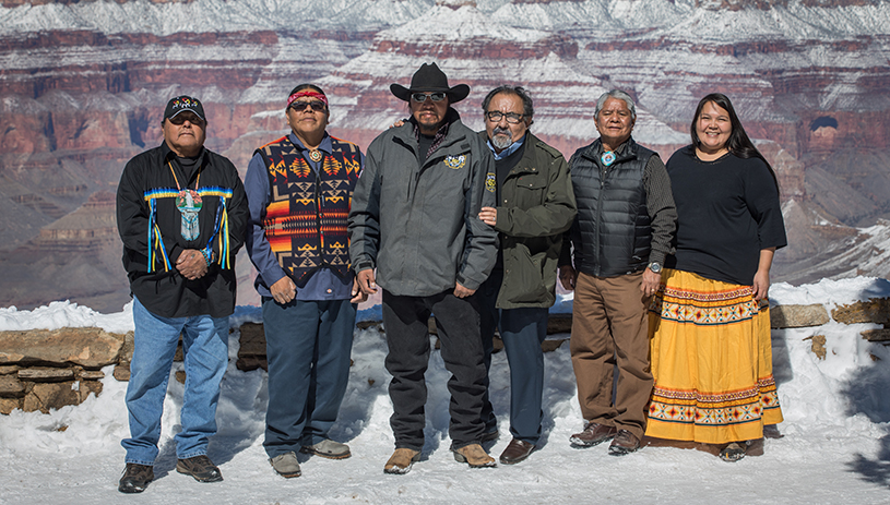 Rep. Grijalva with tribal leaders in support of the Grand Canyon Centennial Protection Act. AMY S. MARTIN