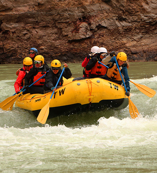 Rafting the Colorado River! Photo by Aaron Paul