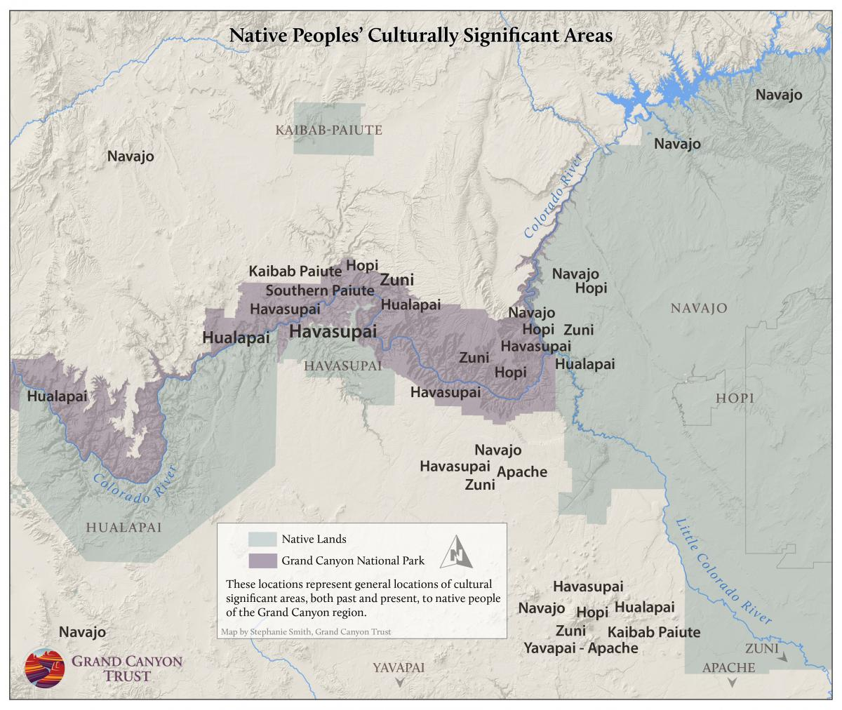 Culturally significant areas to Native Peoples' of the Grand Canyon region