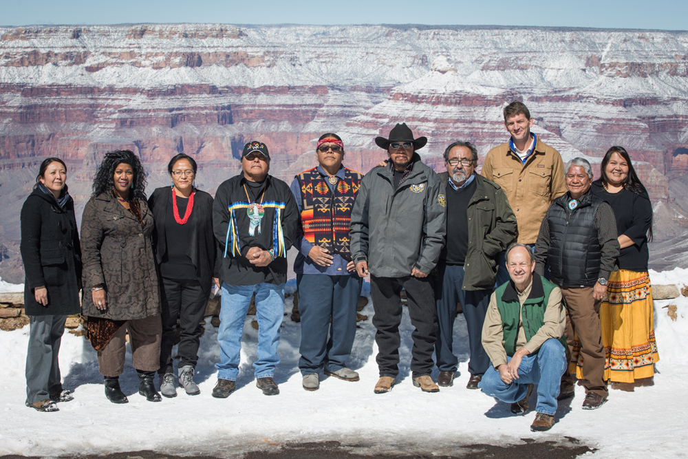 Rep. Grijalva with supporters of the Grand Canyon Centennial Protection Act