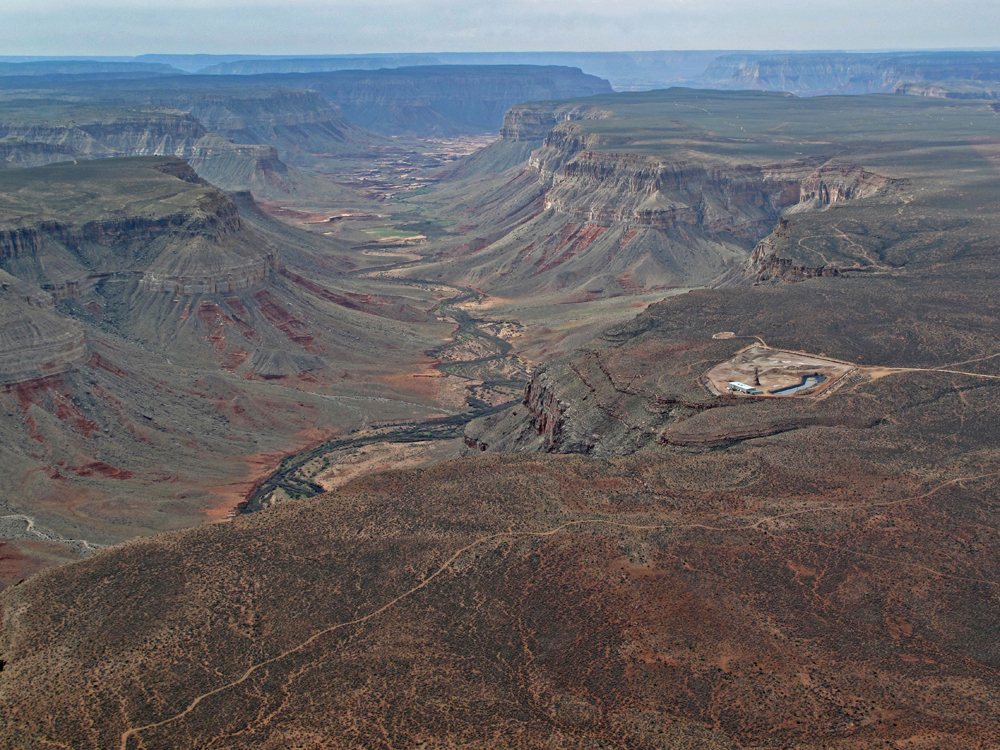Kanab North uranium mine, Grand Canyon. Photo credit Bruce Gordon, EcoFlight
