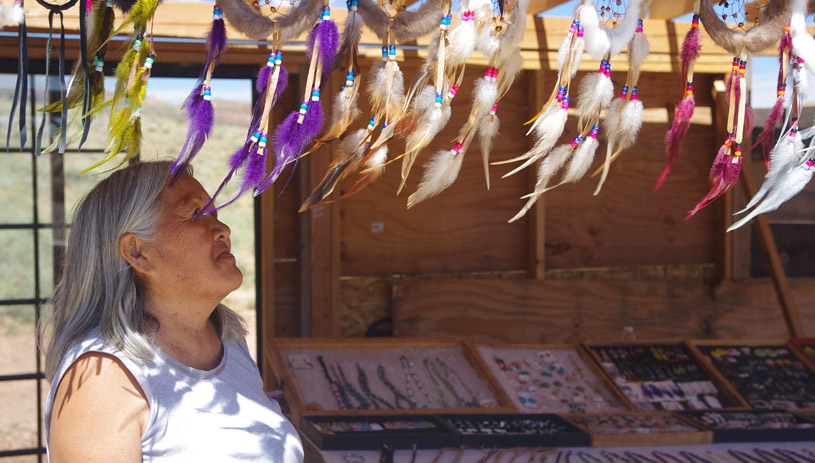 Stella Lewis has been selling crafts at Second Overlook her whole life.
