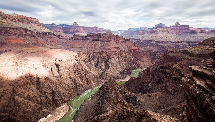 Grand Canyon Vista with the Colorado River by Ed Moss