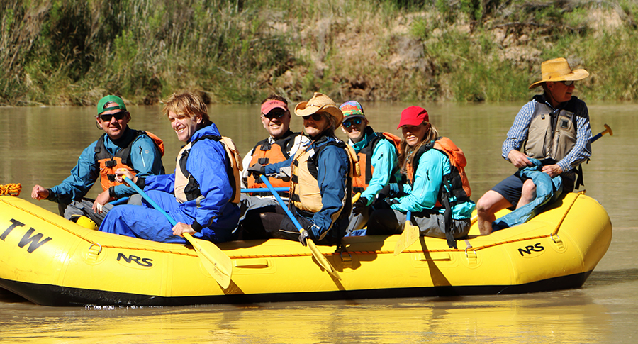 Bill Grabe family on Colorado River
