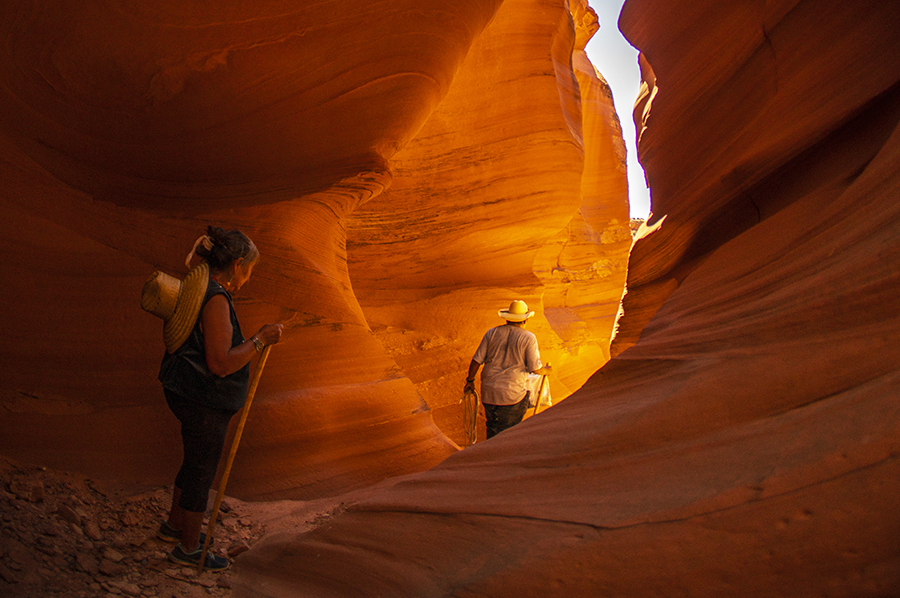Roseann and Lester Littleman in Mystical Antelope Canyon
