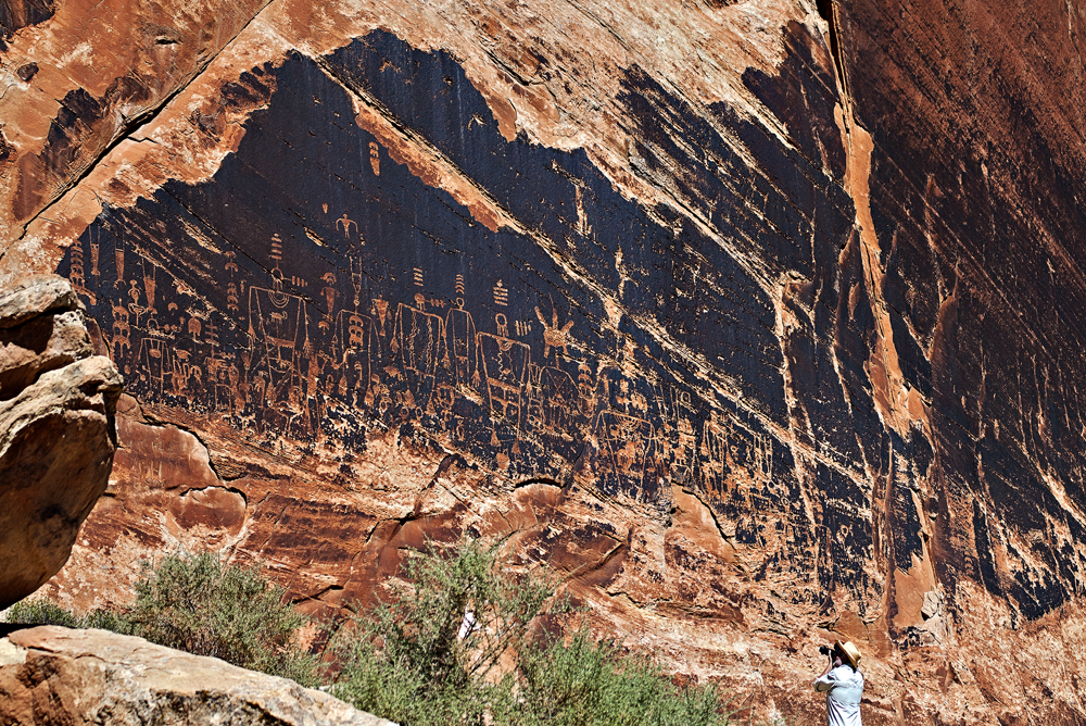 Rock art panel, Butler Wash, Bears Ears National Monument. TIM PETERSON