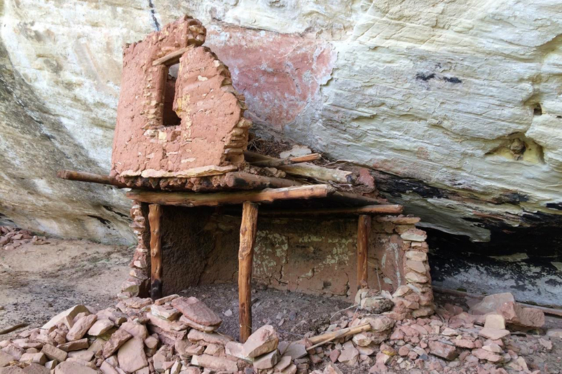 Cliff dwelling, Allen Canyon area, cut from Bears Ears National Monument