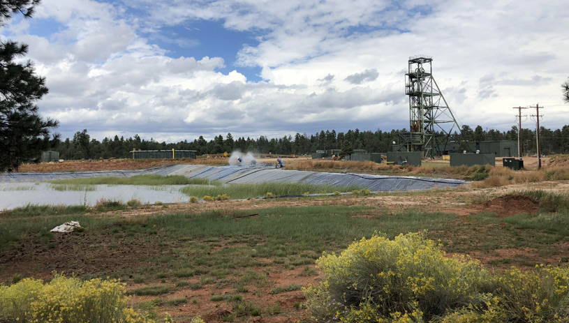 Water pumped out from Canyon uranium mine