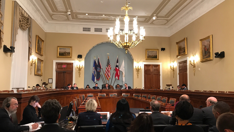House Committee on Nature Resources Subcommittee hearing Dec 12, 2017