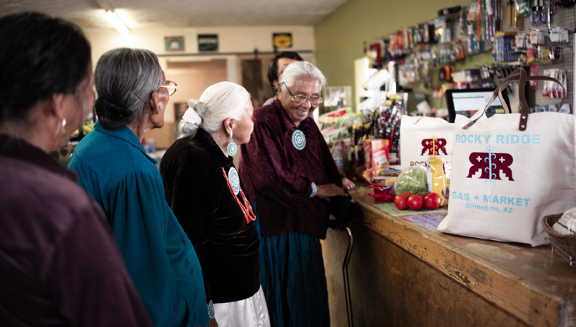The market serves many elders in the community of Rocky Ridge.