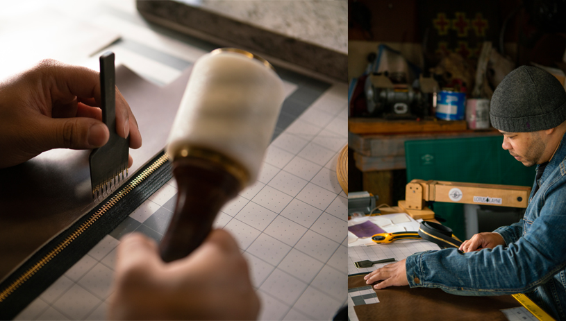 Leatherwork requires both patience and precision. Photo by Deidra Peaches
