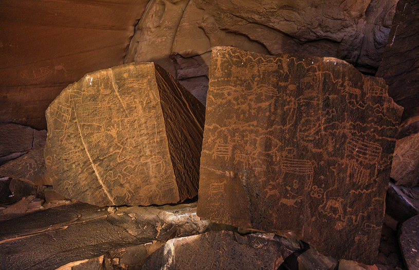 Moqui Canyon rock art. Photo by Tim Peterson