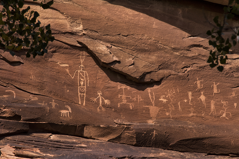 Rock art near Sand Island. Photo: Tim Peterson