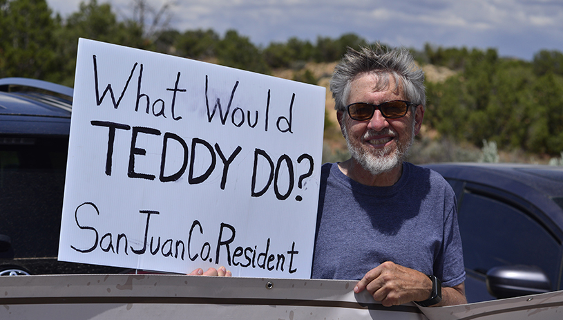 What Would Teddy Do? Photo by Tim Peterson