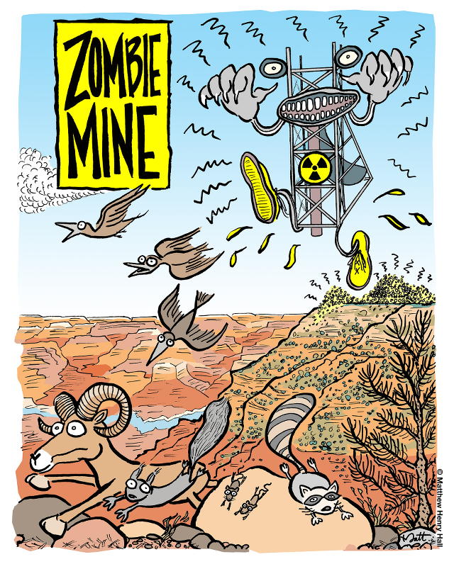 Zombie Mine cartoon