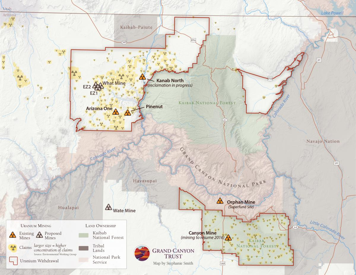 Map of the Month Grand Canyon Uranium Mining