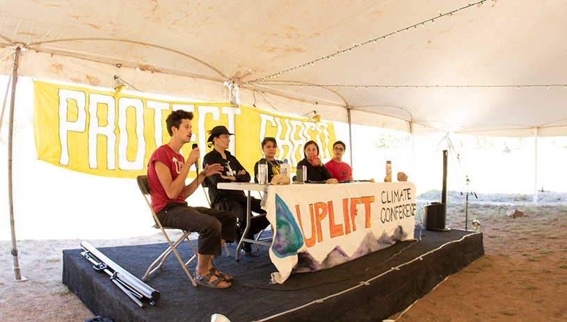 A panel of speakers at Uplift 2018
