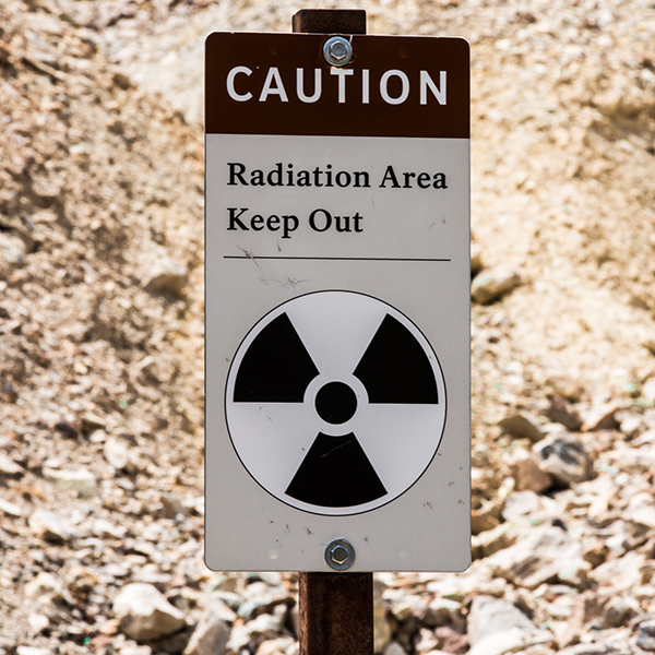 Radiation sign in Grand Canyon National Park
