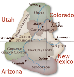 Regions of the Colorado Plateau.