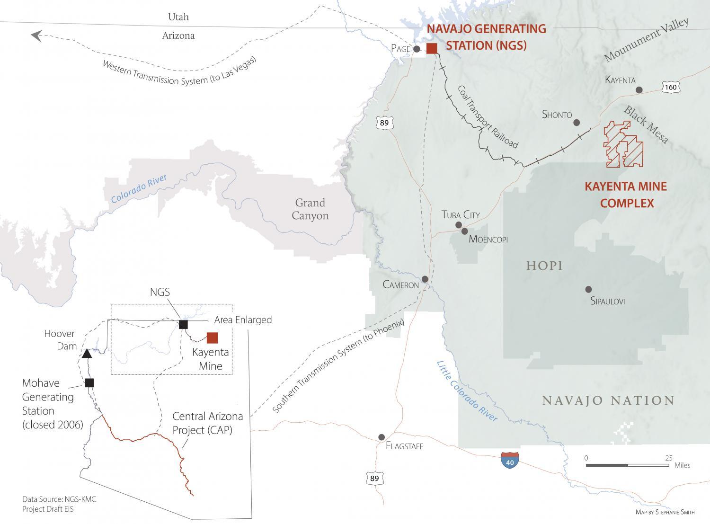 NGS and Kayenta Mine map