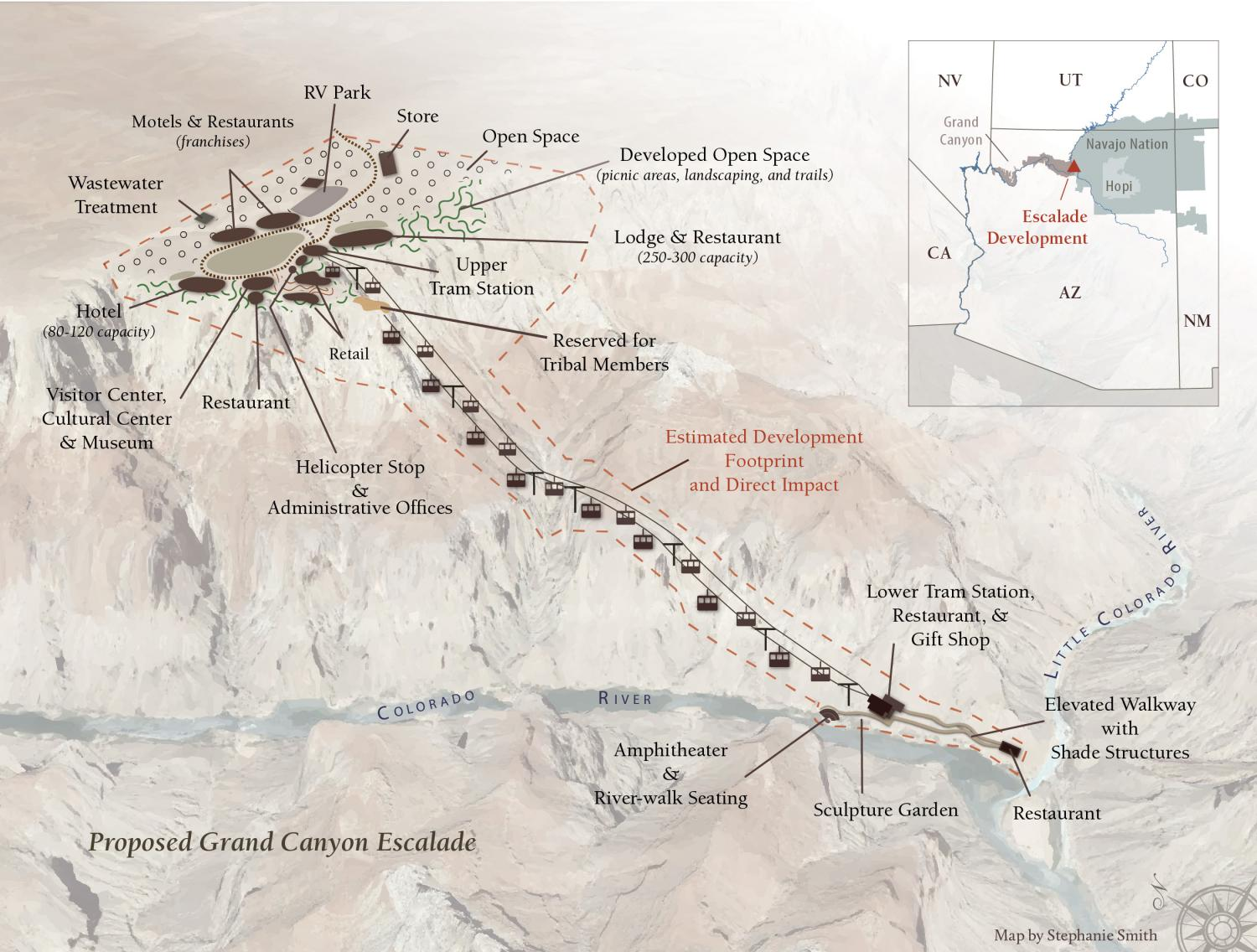 Map of Proposed Grand Canyon Escalade