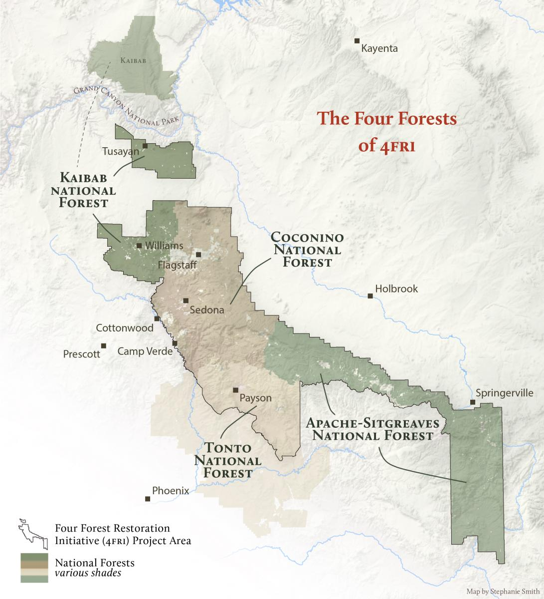Four Forest Resotration (4FRI) Map of Project Area