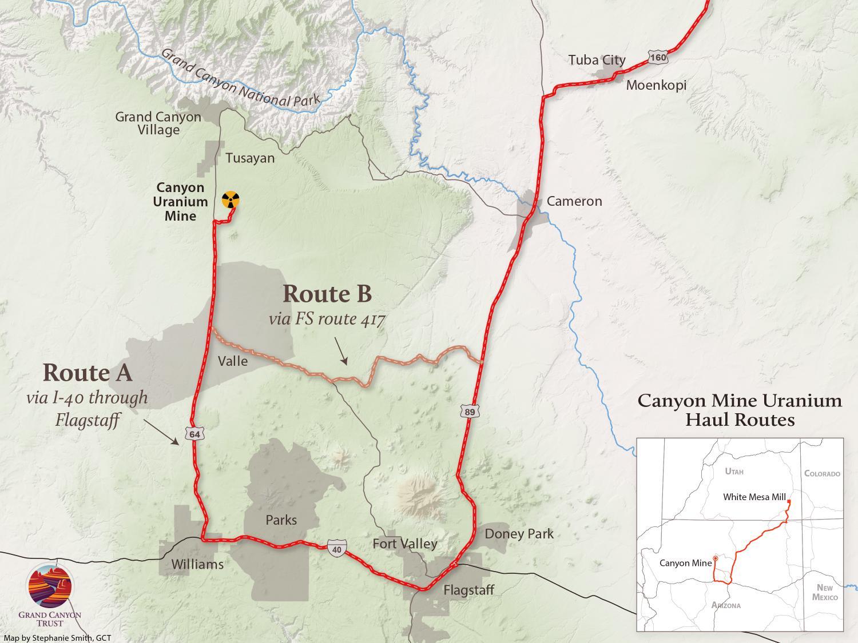 Uranium page 3 grand canyon trust canyon mine uranium haul route publicscrutiny Images