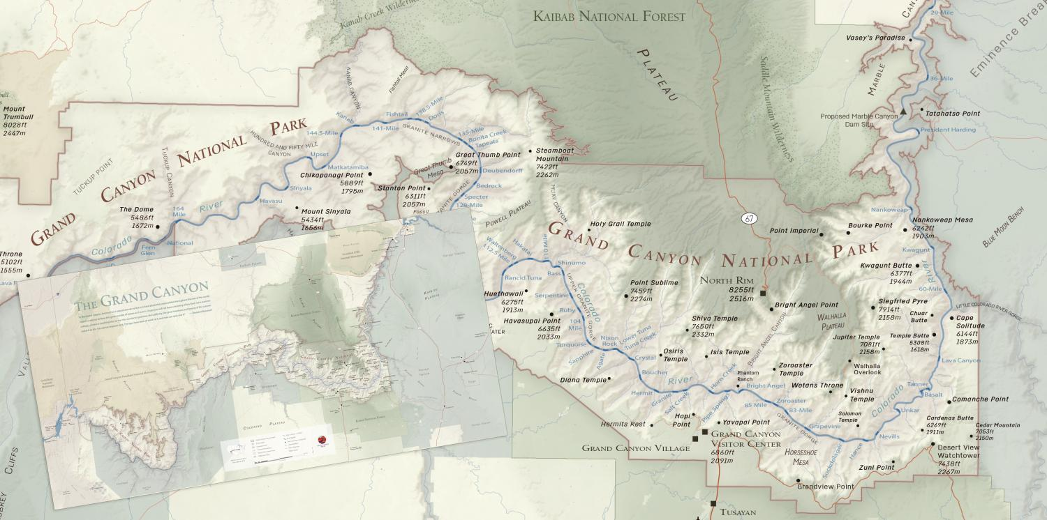 A New Grand Canyon National Park Map Grand Canyon Trust