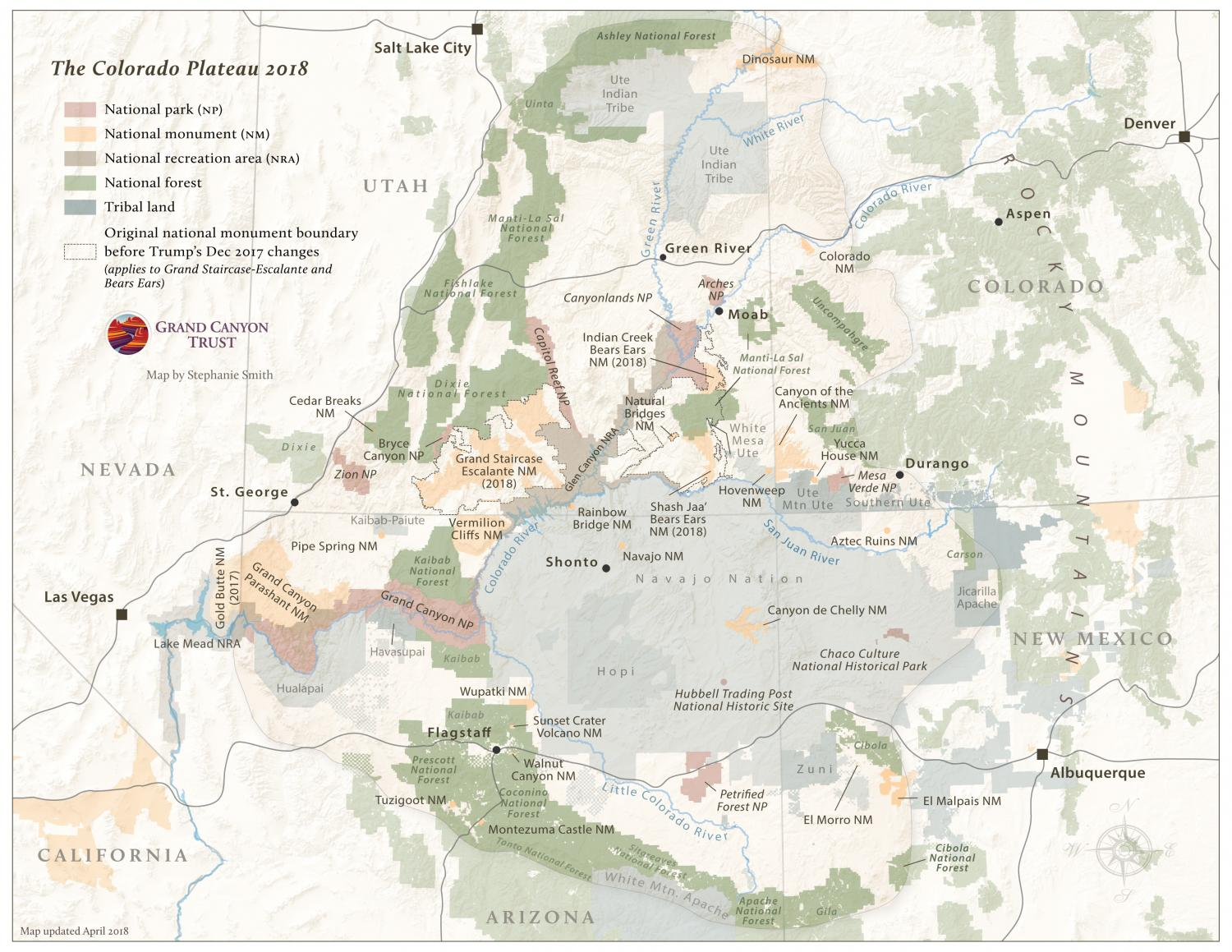 Colorado Plateau map, 2018 edition.