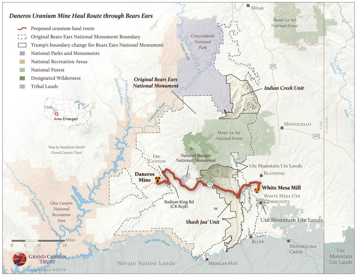 Daneros Uranium Mine Haul Route through Bears Ears