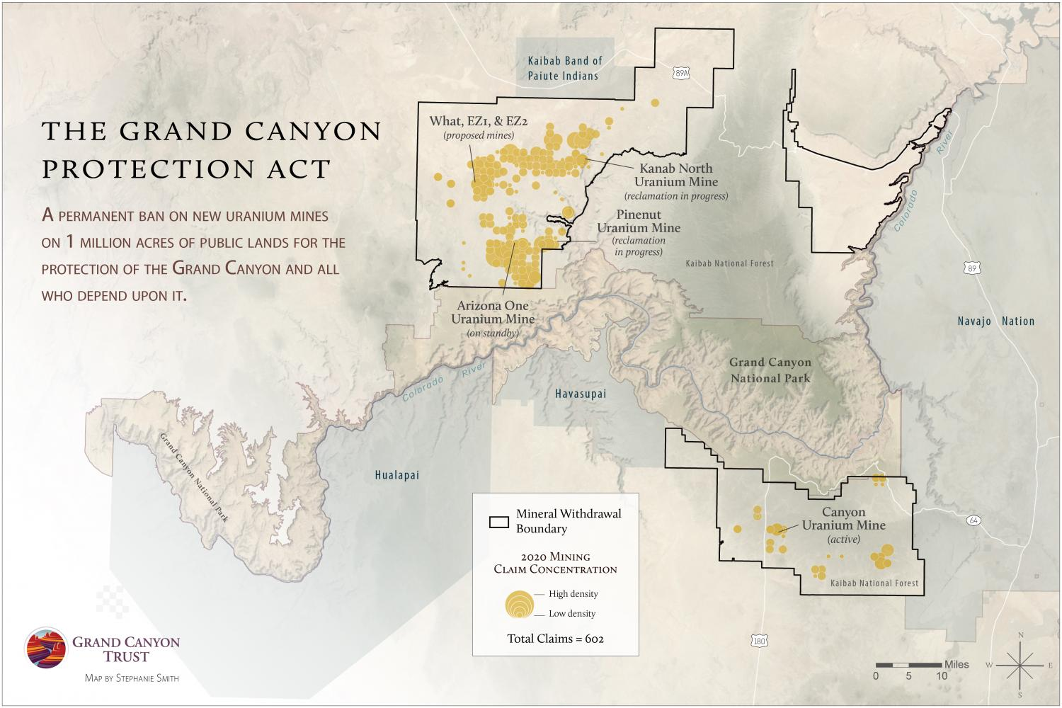 The Grand Canyon Protection Act map