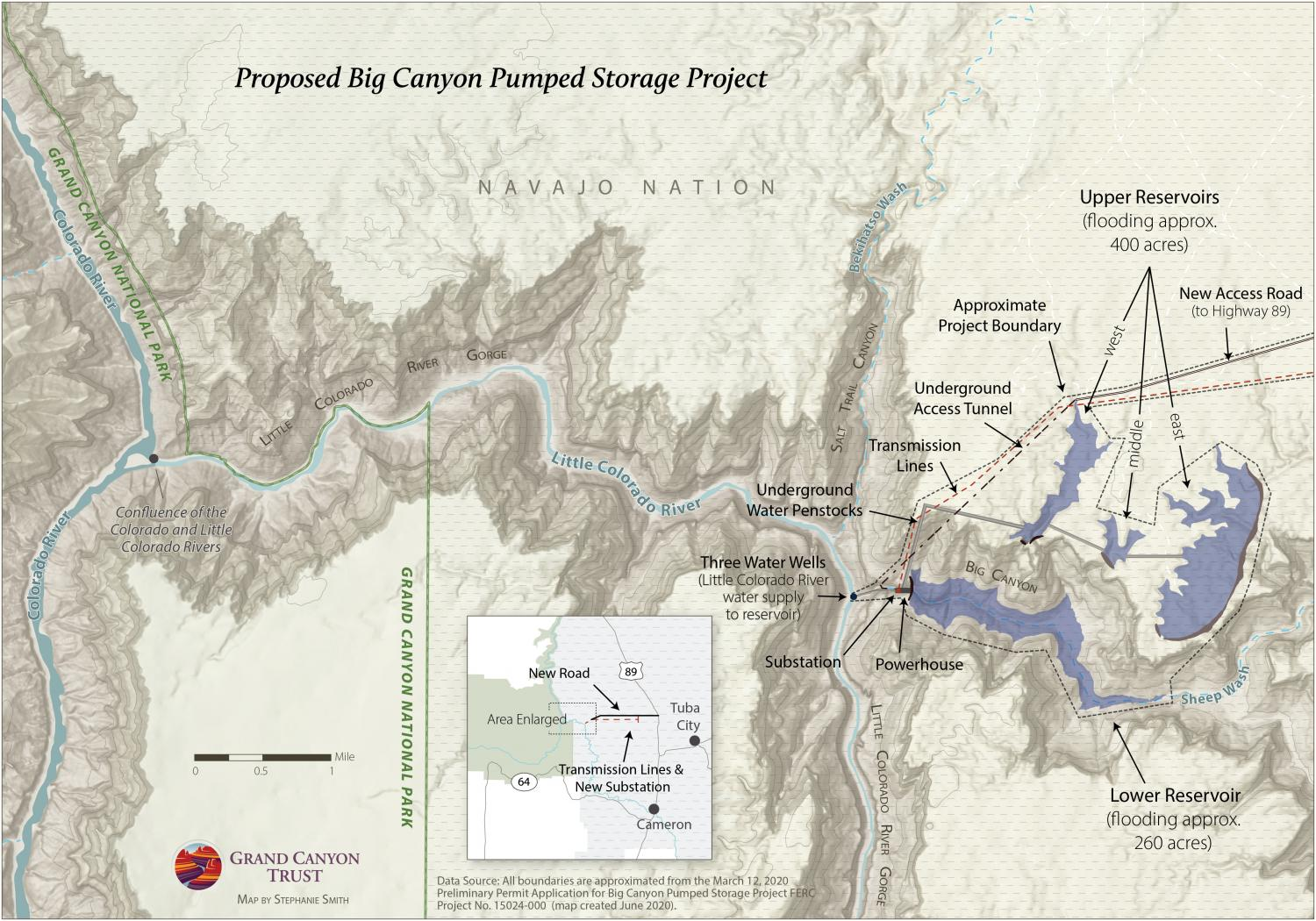 Map of Big Canyon Project