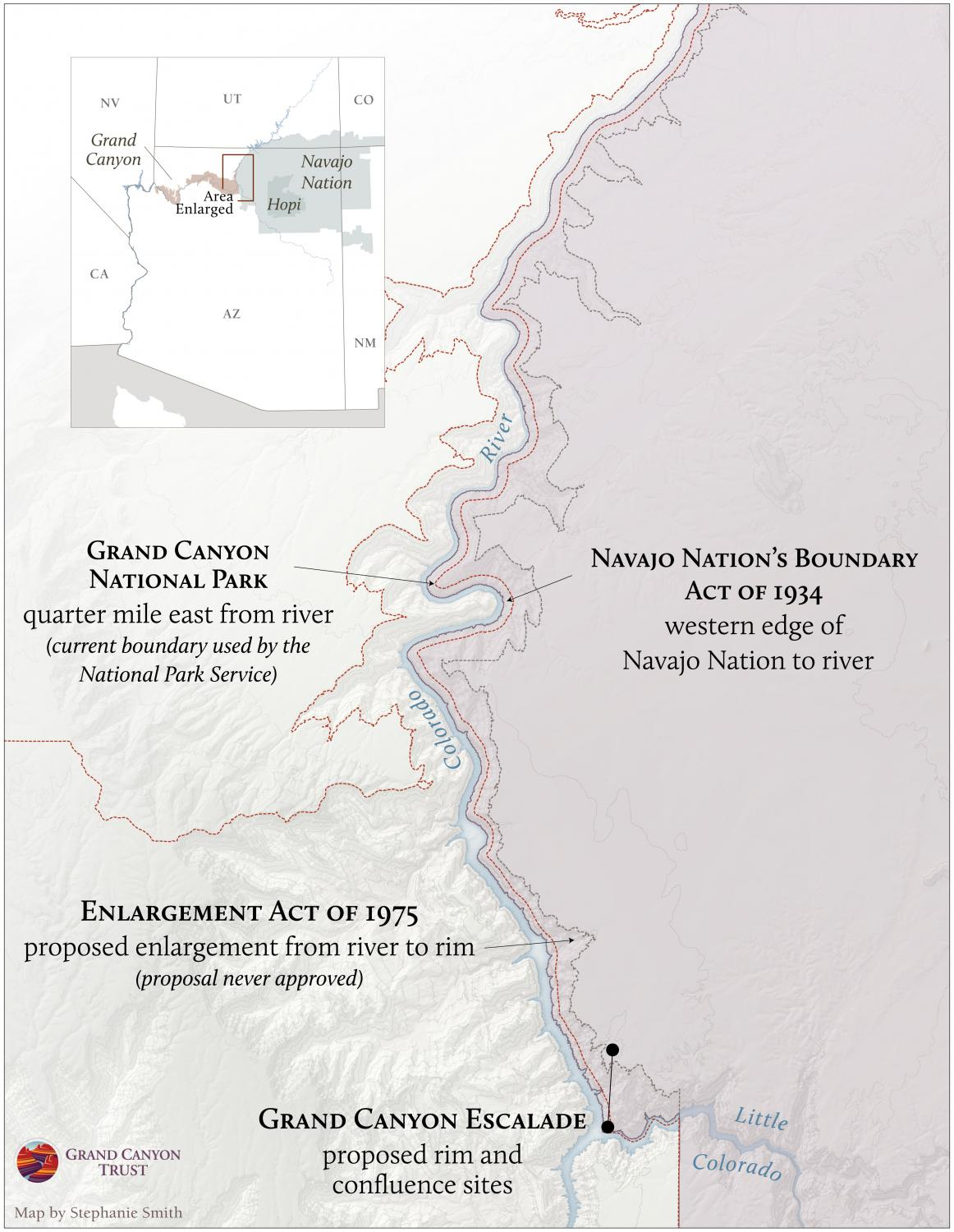 Map of Proposed Boundaries of Grand Canyon National Park