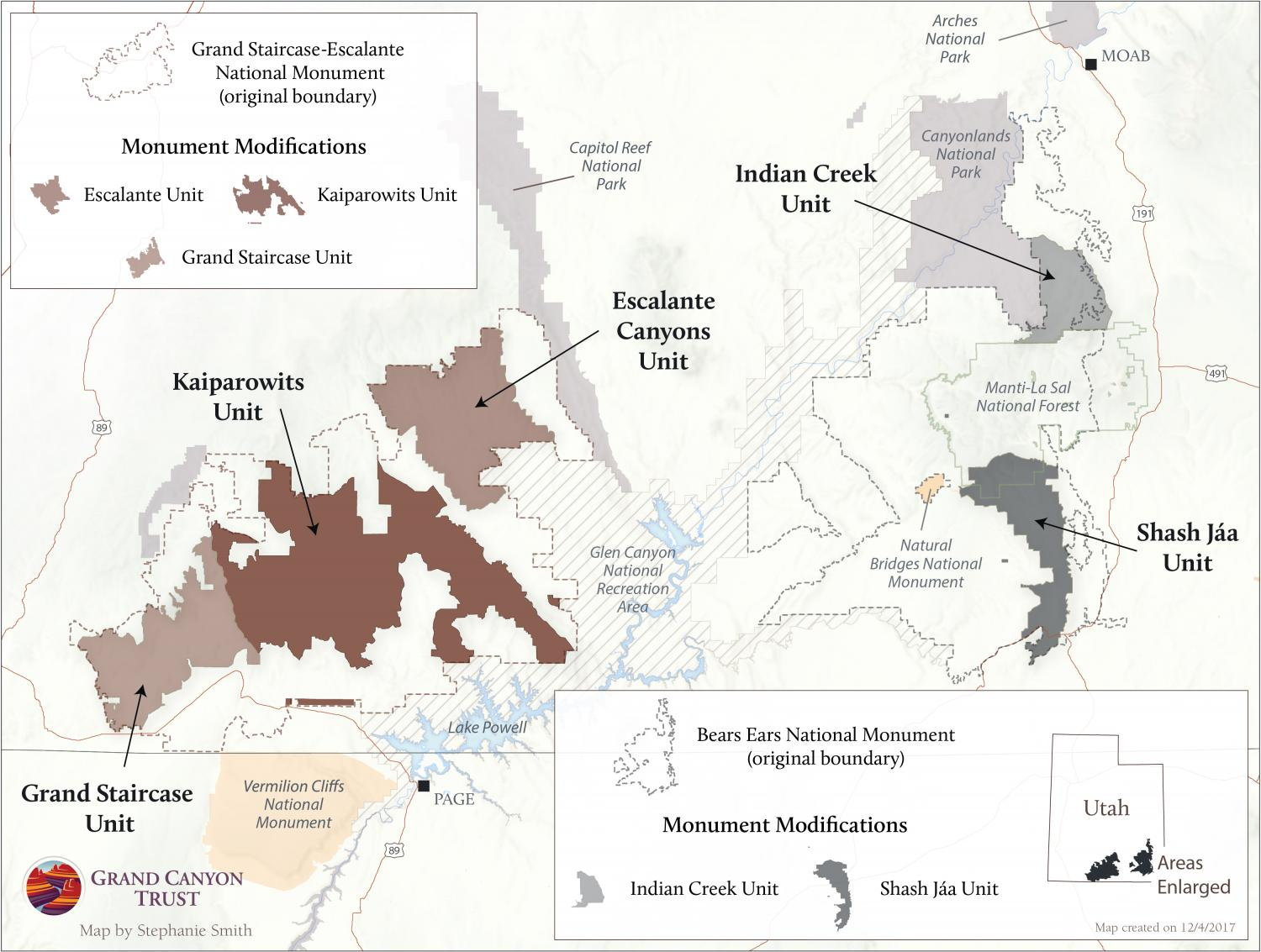 Modifications to Bears Ears and Grand Staircase-Escalante national monuments