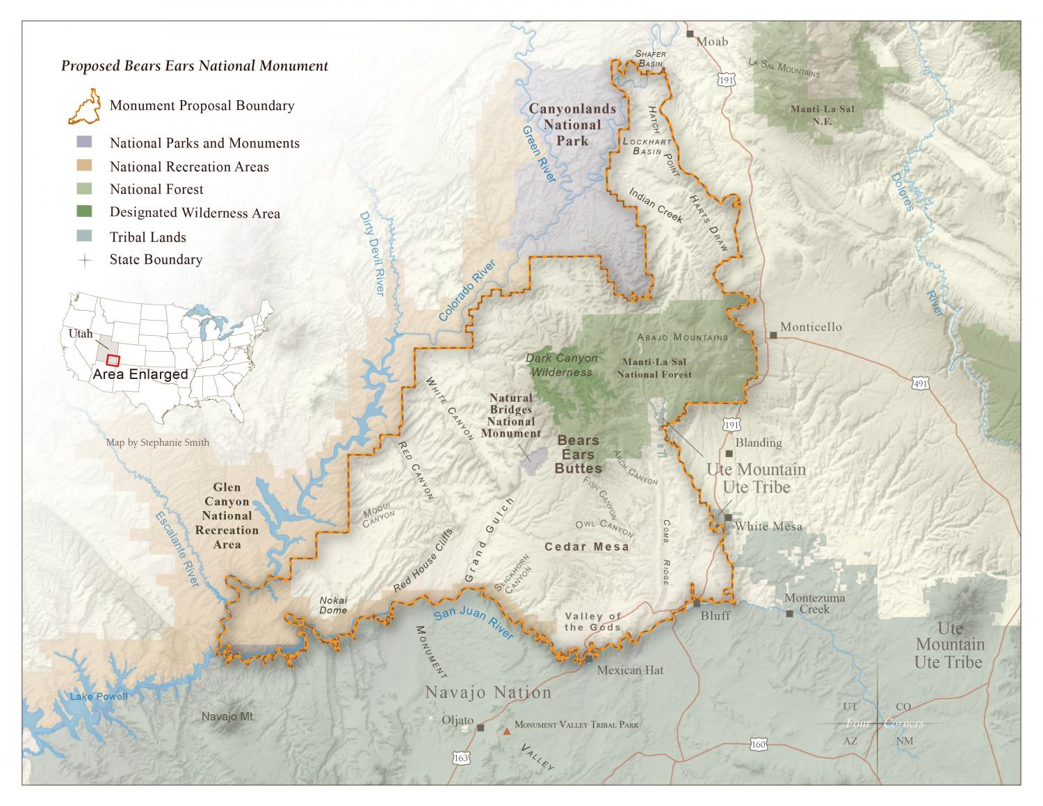 Proposed Bears Ears National Monument Map Grand Canyon Trust