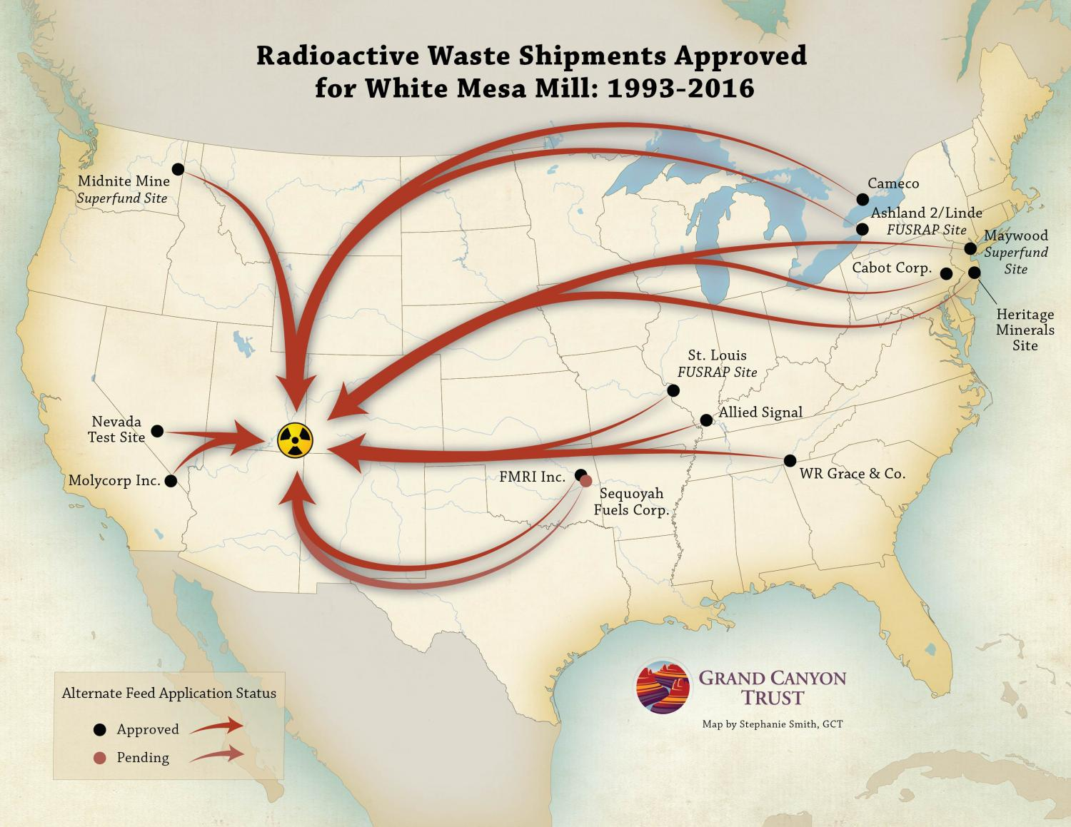 Radioactive Waste Shipments to White Mesa Mill Grand Canyon Trust
