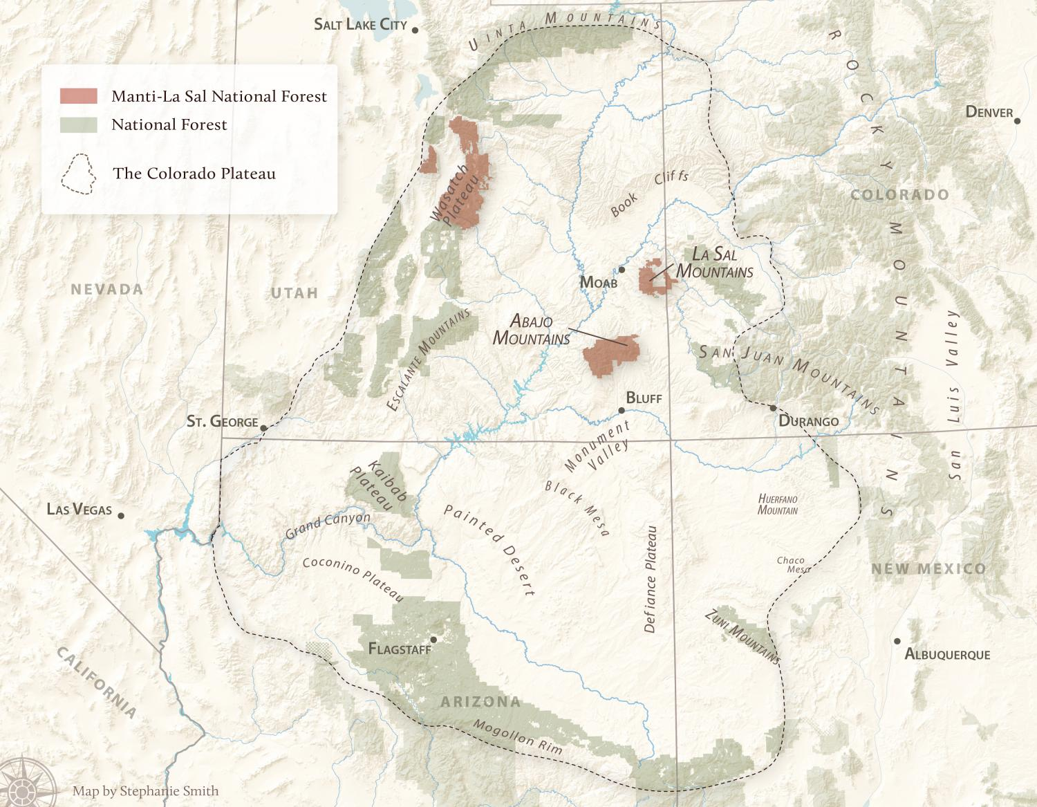 Image Result For Manti La Sal National Forest Map