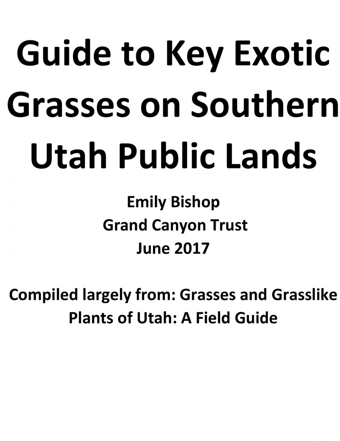 Exotic Grasses Guidebook