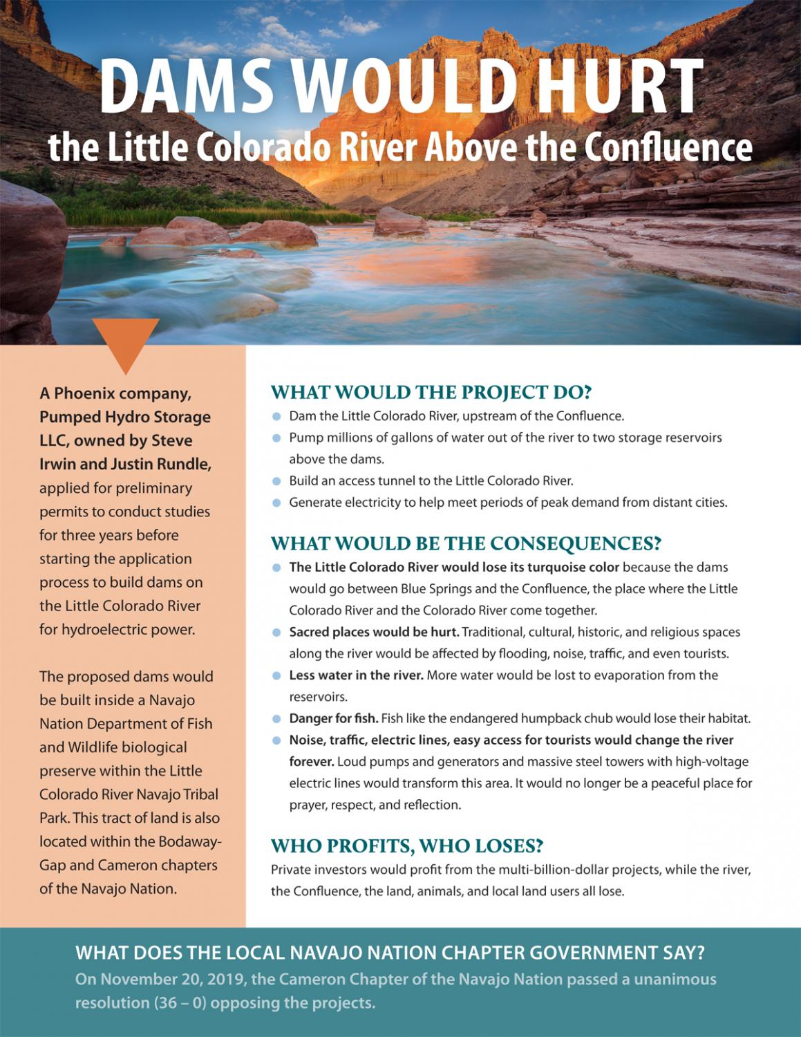 Dams would hurt the Little Colorado River Above the Confluence