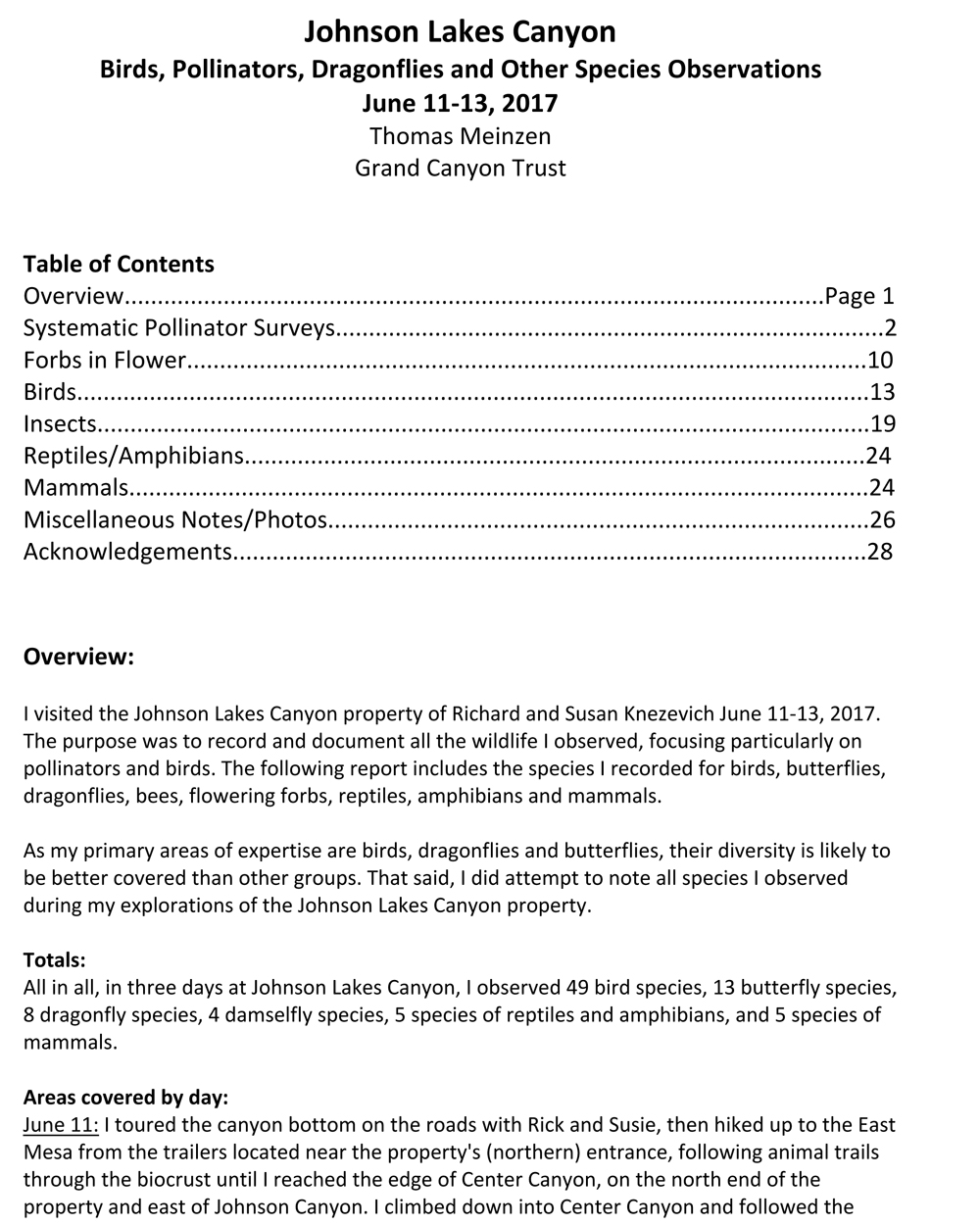 Page 1 of the report, click to download.