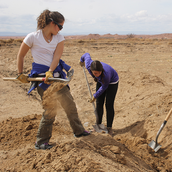 Trust volunteers dig trench
