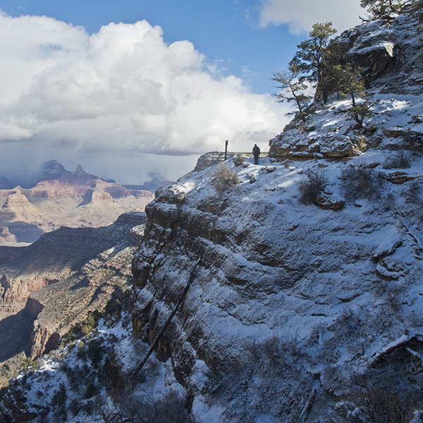Bright Angel Trail in winter